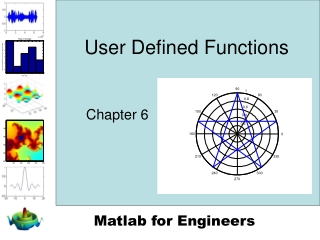 Matlab: User Defined Functions