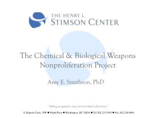 The Chemical & Biological Weapons Nonproliferation Project