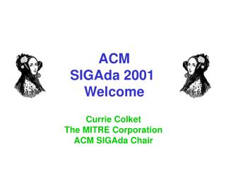 ACM SIGAda 2001  Welcome