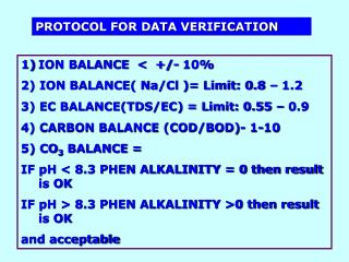 PROTOCOL FOR DATA VERIFICATION