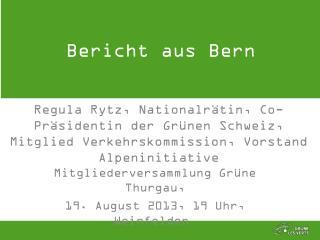 Bericht aus Bern