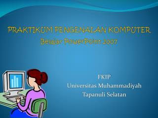 F KIP Universitas Muhammadiyah  Tapanuli Selatan