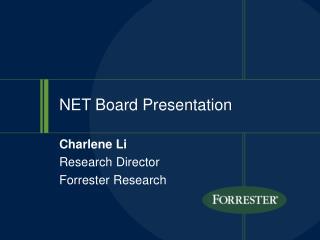 NET Board Presentation