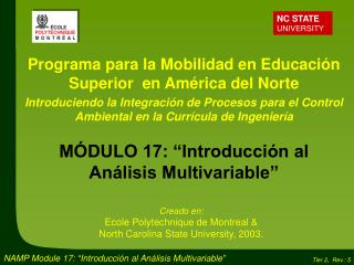 Programa para la Mobilidad en Educación Superior  en América del Norte