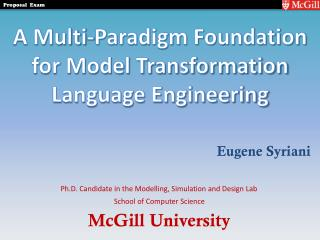 A Multi-Paradigm Foundation for Model Transformation Language Engineering