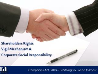 Shareholders Rights Vigil Mechanism & Corporate Social Responsibility �