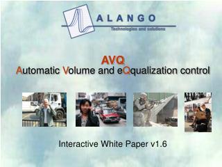 AVQ A utomatic V olume and e Q qualization control
