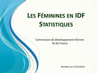 Les F�minines en IDF Statistiques