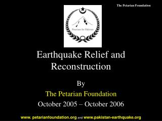 Earthquake Relief and Reconstruction