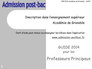Inscription dans l'enseignement supérieur Académie de Grenoble