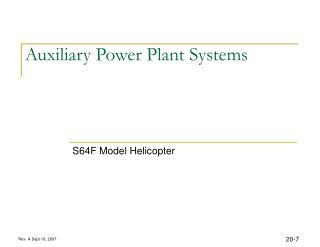 Auxiliary Power Plant Systems