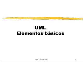 UML Elementos básicos