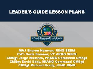 LEADER'S GUIDE LESSON PLANS