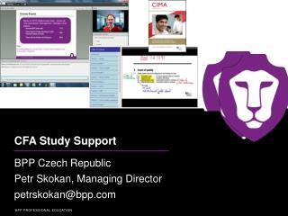 CFA Study  Support