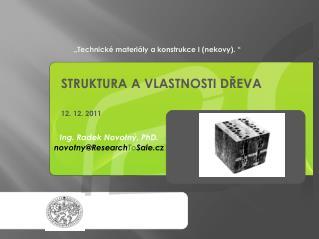 """""""Technické materiály a konstrukce I (nekovy). """""""