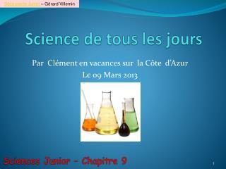 Science de tous les jours