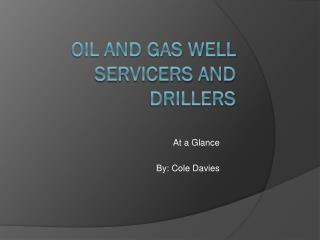 Oil and Gas Well servicers and drillers