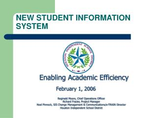 NEW STUDENT INFORMATION SYSTEM
