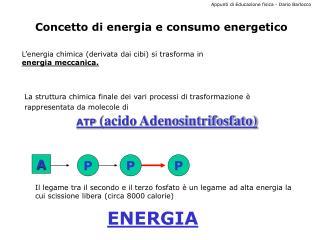 Concetto di energia e consumo energetico