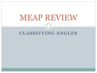 MEAP REVIEW