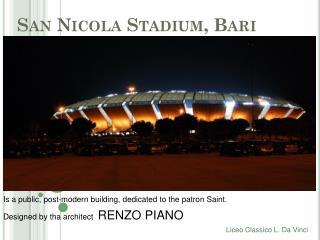San Nicola  Stadium ,  Bari