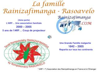 La famille  Rainizafimanga - Rasoavelo