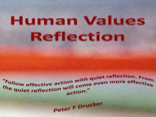 Human Values Reflection