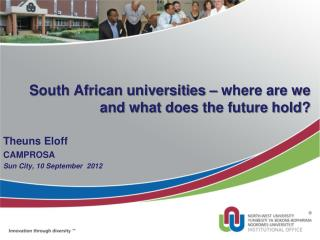 South African universities – where are we and what does the future hold?