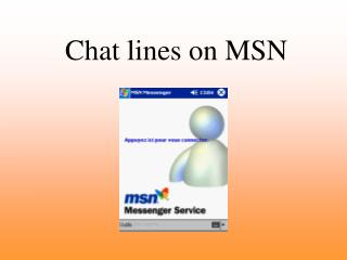 Chat lines on MSN
