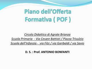 Piano dell'Offerta Formativa ( POF )
