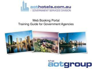 Web Booking Portal Training Guide for Government Agencies