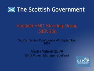 Scottish END Steering Group (SENSG)