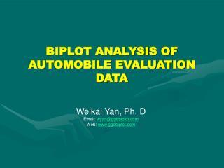 BIPLOT ANALYSIS OF  AUTOMOBILE EVALUATION DATA