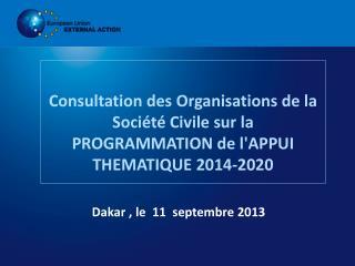 Dakar , le  11  septembre 2013