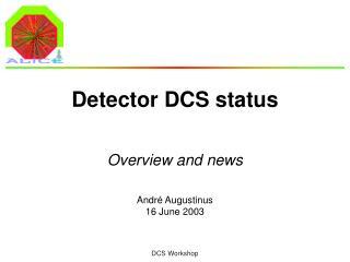 Detector DCS status