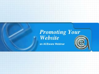 Promoting Your Website