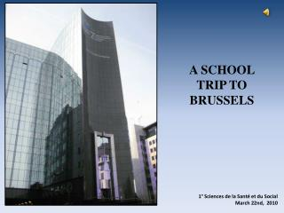 A SCHOOL TRIP TO BRUSSELS