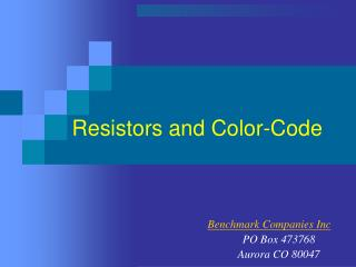 Resistors and Color-Code