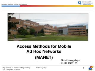 Access Methods for Mobile Ad Hoc Networks  MANET