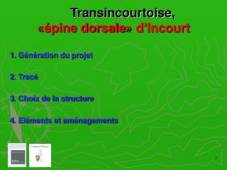 Transincourtoise, « épine dorsale »  d'Incourt
