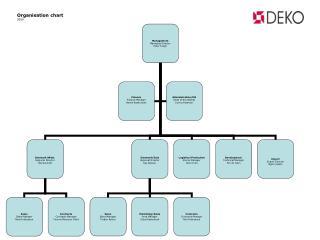 Organisation chart 2009
