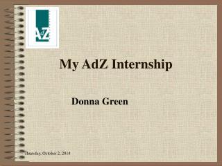 My AdZ Internship