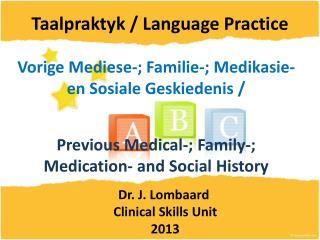 Taalpraktyk / Language Practice