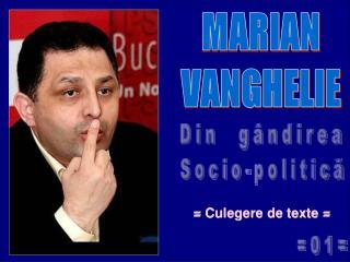 MARIAN VANGHELIE