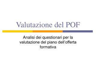 Valutazione del POF
