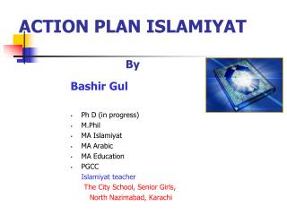 ACTION PLAN ISLAMIYAT By