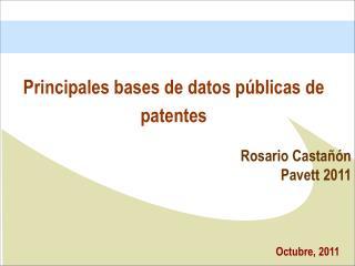 Principales  bases de datos públicas de patentes