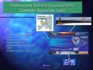 Federazione Italiana Escursionismo Comitato Regionale Lazio