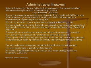 Administracja linux-em
