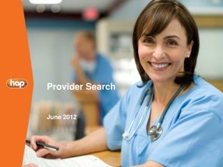 Provider Search June 2012
